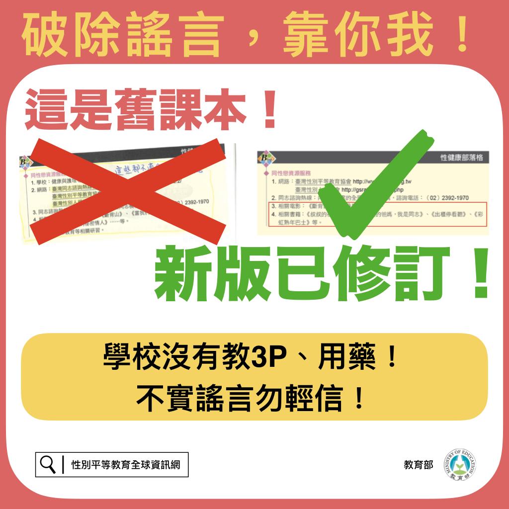破除謠言,靠你我(學校沒有教3P、用藥!不實謠言勿輕信!)01